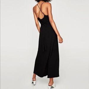 Zara Black Strapped Maxi Dress
